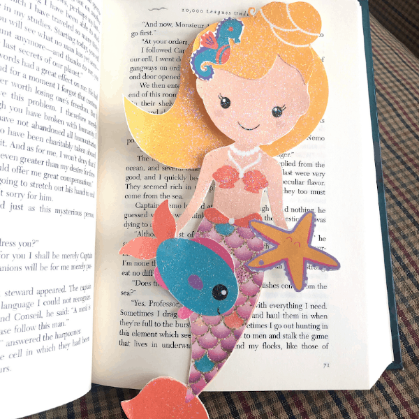 Mermaid bookmark in book 1