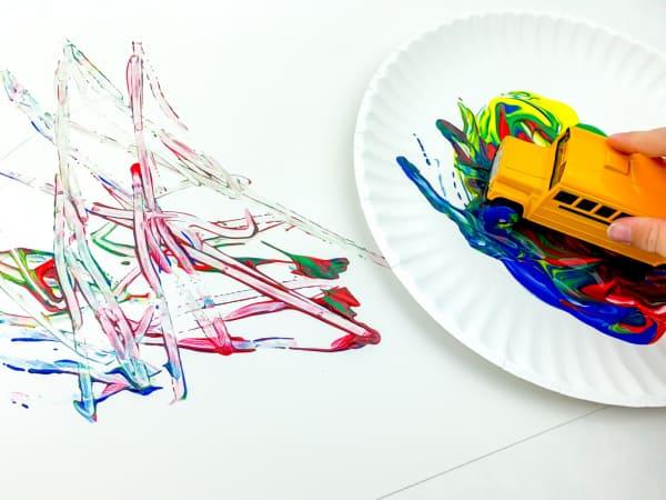 School Bus Painting Activity for Preschoolers