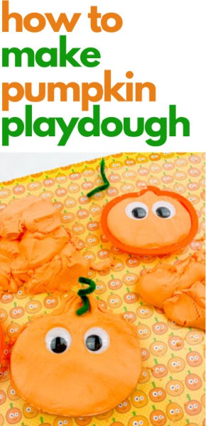 How to make pumpkin play dough