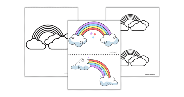 Free Printable Rainbow Templates (small, medium, and large)