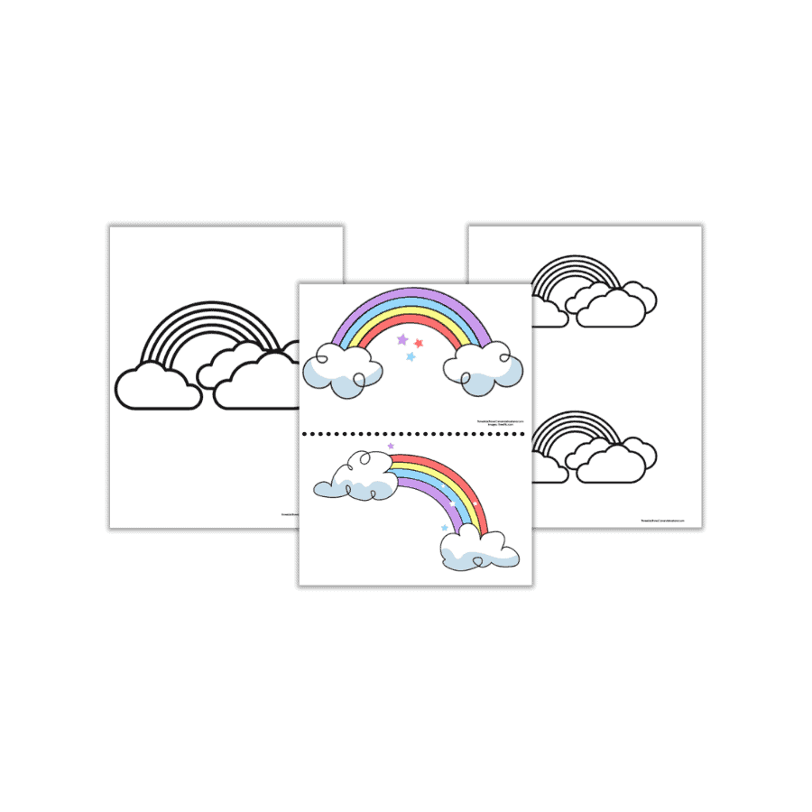 Free Rainbow Templates to Color & Print