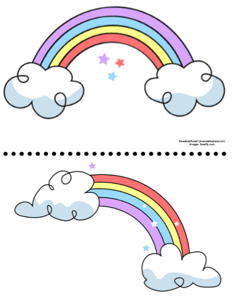 Printable color rainbow templates