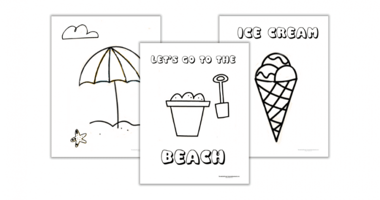 Free Printable Summer Coloring Pages for Preschoolers