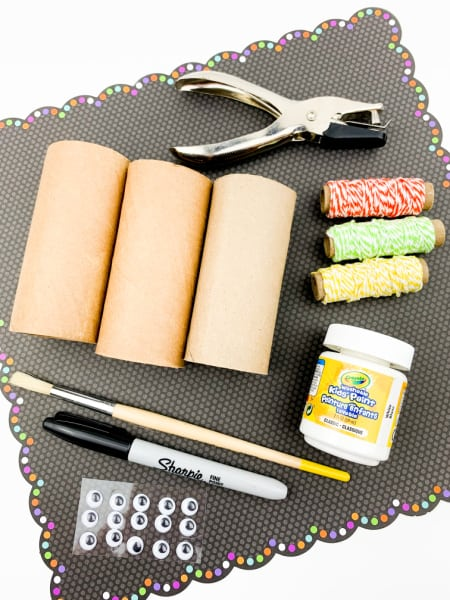 Supplies for TP Roll Ghosts