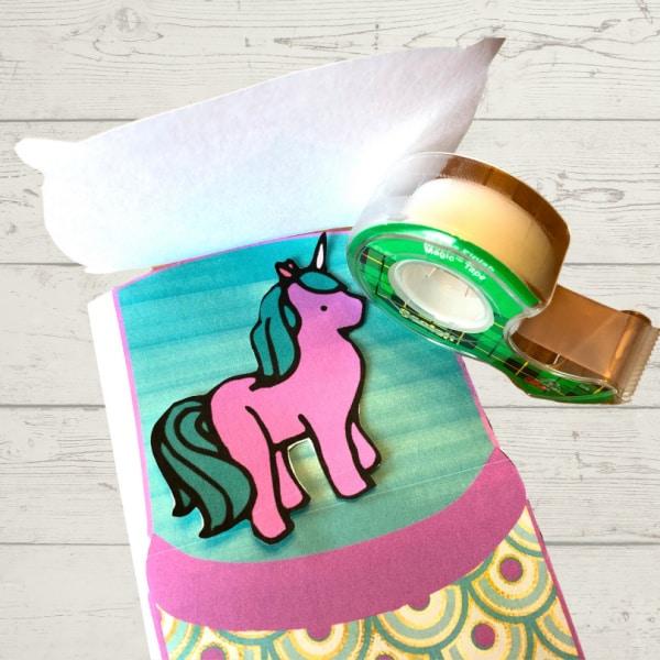 Tape pillow on sleeping bag