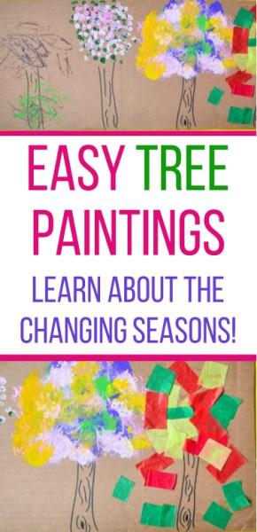 Q tip Tree painting pin