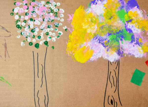 Seasons of a Tree: A Q-Tip Painting Idea for Kids