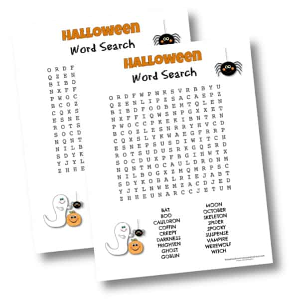 Challenging Halloween Word Search