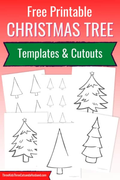 Christmas tree templates and cutouts