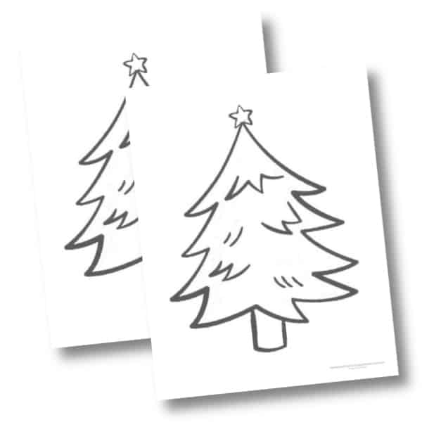 Christmas tree with star template