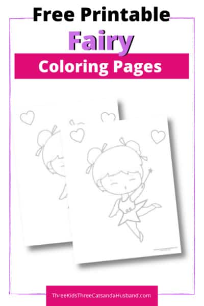 Free printable fairy coloring page pin 4