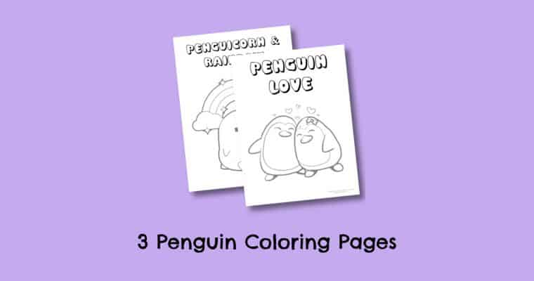 Free Printable Penguin (and Penguicorn) Coloring Pages