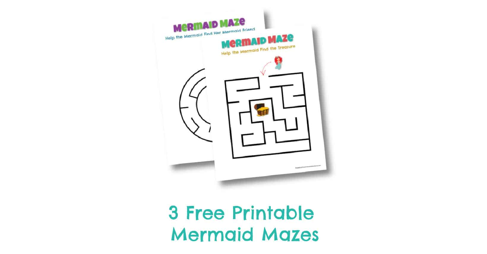 Free Printable Mermaid Mazes