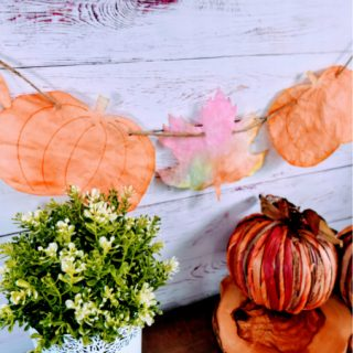 Coffee Filter Leaf & Pumpkin Craft