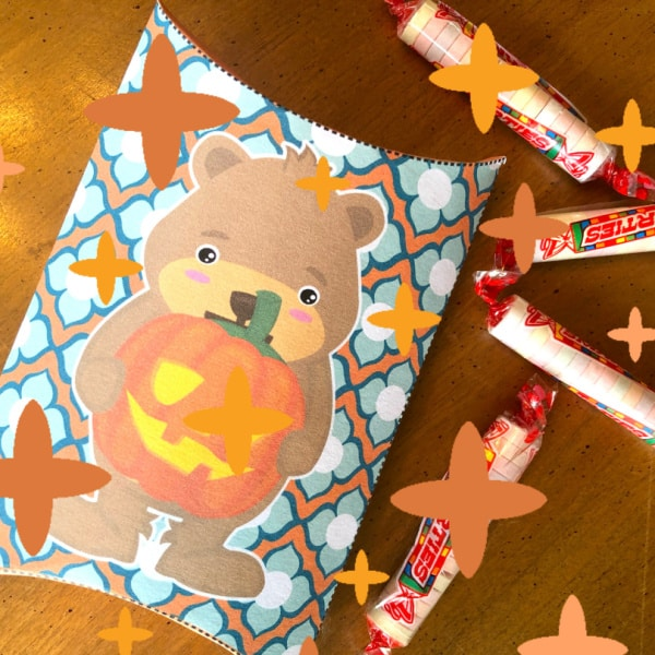 DIY Teddy Bear Halloween Treat Boxes (with Templates)