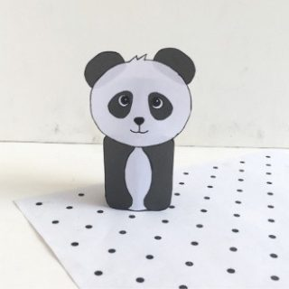 Finished panda bear craft for kids