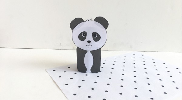 Panda Bear Toilet Paper Roll Craft for Kids
