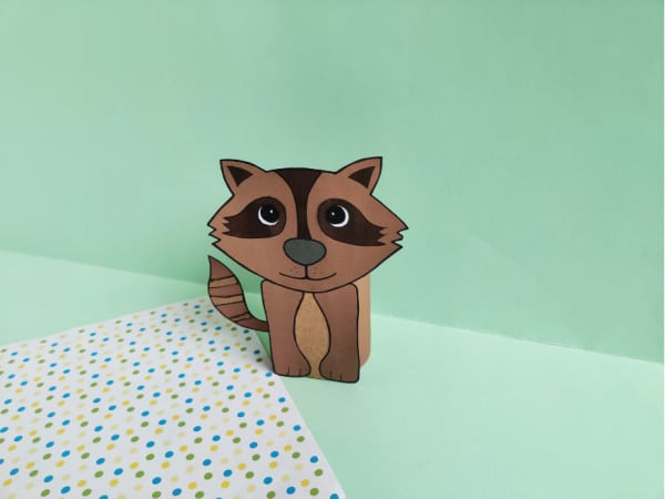 Raccoon Toilet Paper Roll Craft for Kids