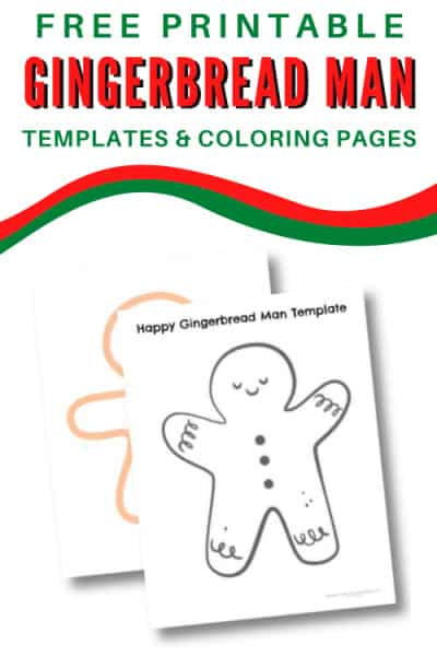 Gingerbread man templates and coloring pages