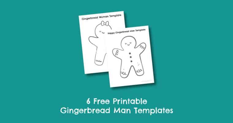 6 Free Printable Gingerbread Man Templates (small & large)