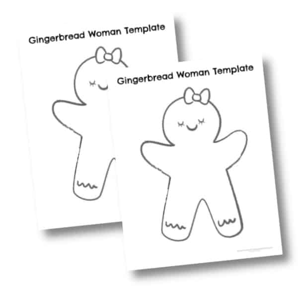 Gingerbread woman templates