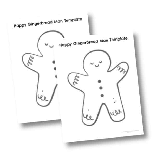 Happy gingerbread man printable templates
