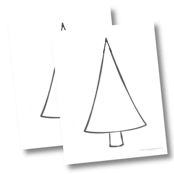 Large Christmas tree cutout