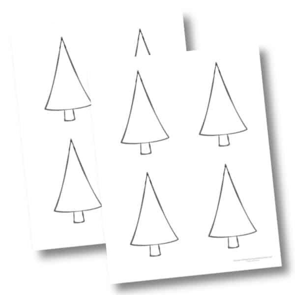Medium Christmas tree cutout
