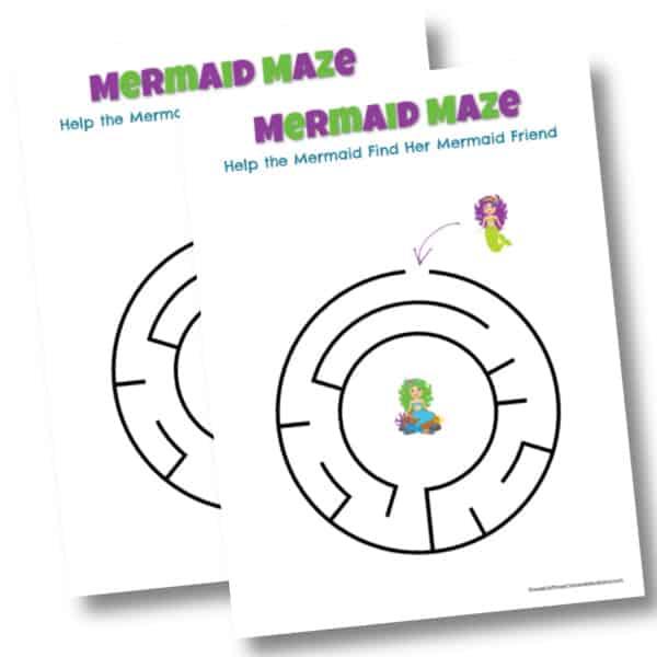Free printable Mermaids maze