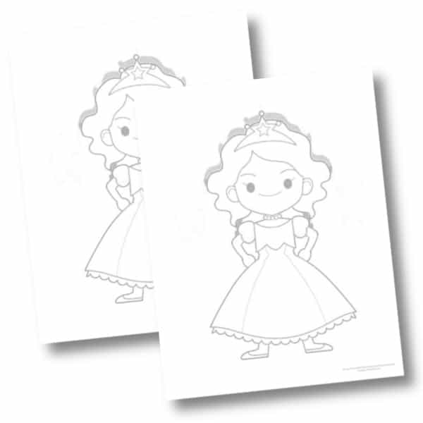 5 Free Printable Princess Coloring Pages For Kids