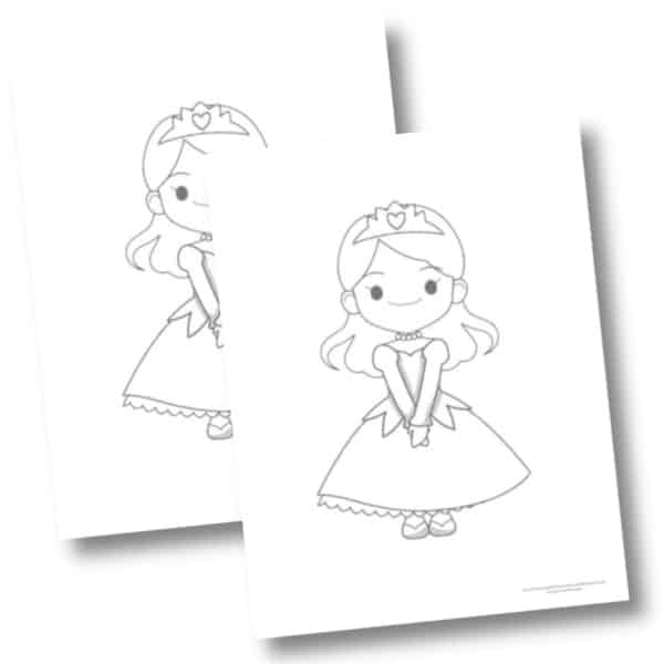 Free princess coloring page three