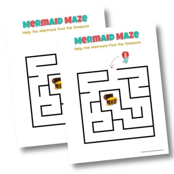 Printable Mermaid Maze