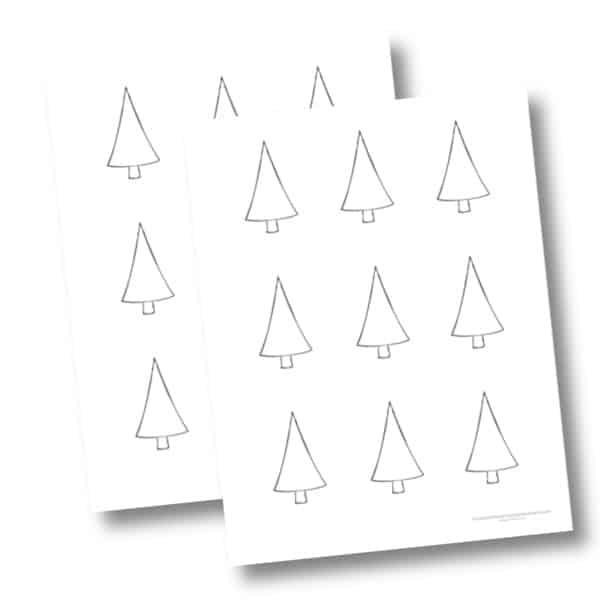 Small Christmas Tree Cutouts
