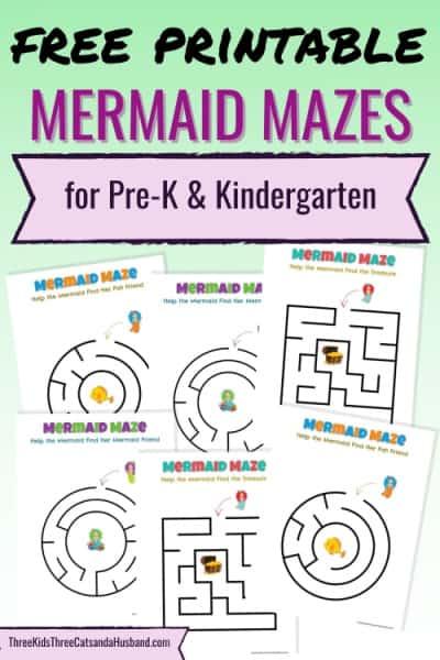 Free printable mermaid mazes