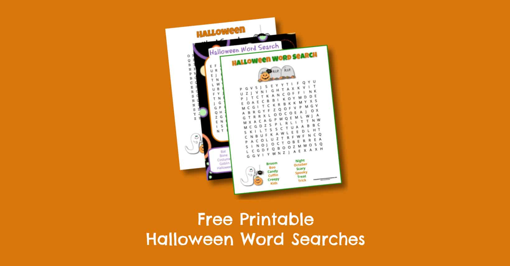 Free Printable Halloween Word Searches