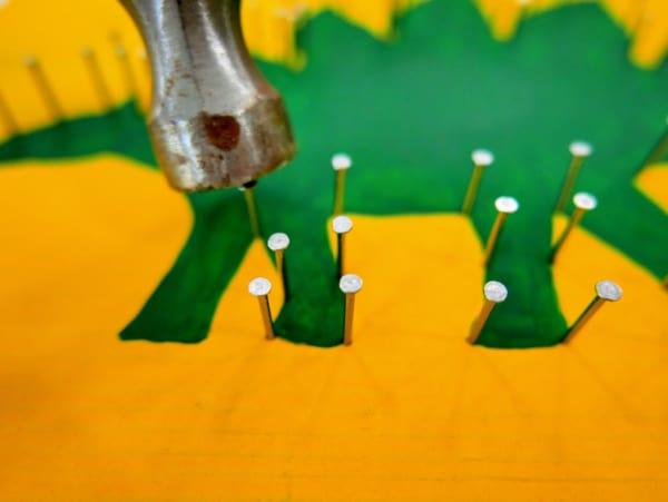 Adding nails to dinosaur legs