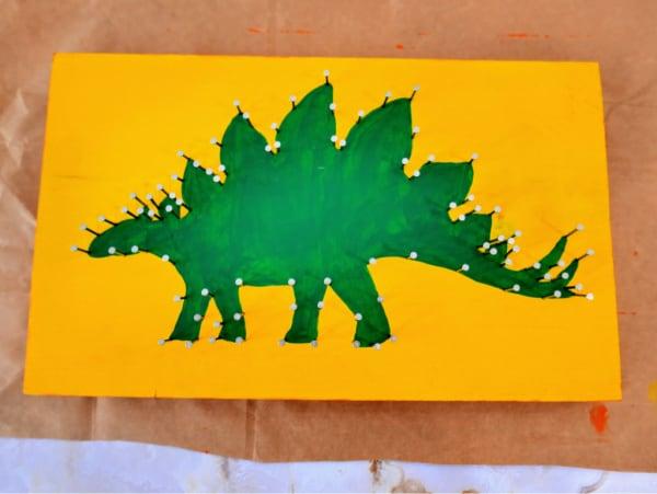All nails on dinosaur