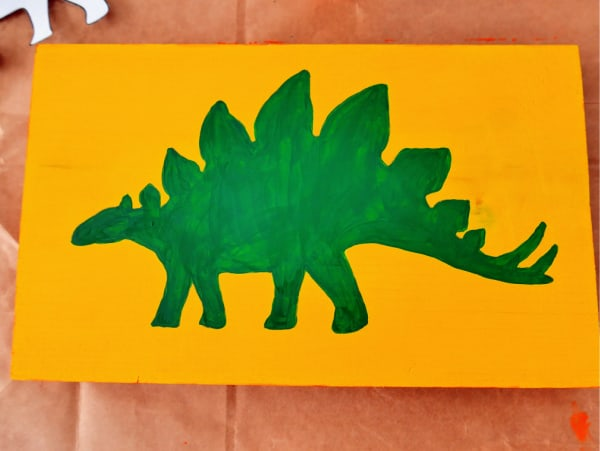 Dinosaur all painted green