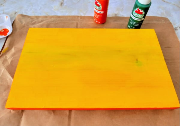 Second coat of yellow paint