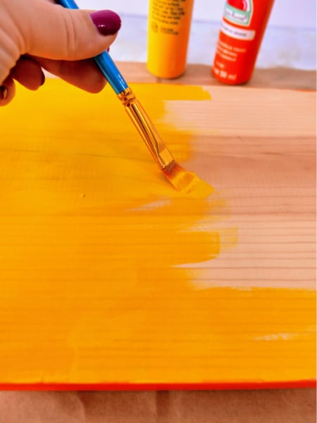 Painting wood yellow