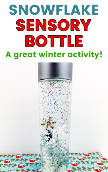 Snowflake Sensory Bottle for winter