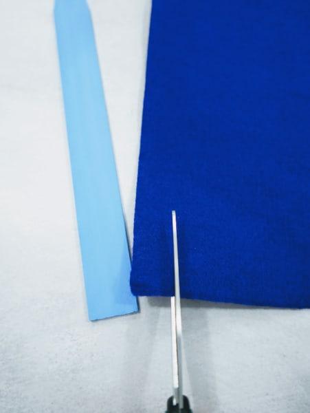 Cut out blue felt