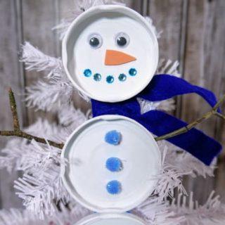 Snowman craft for preschoolers
