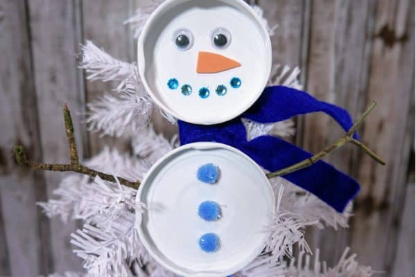 Christmas Snowman Craft for Preschoolers