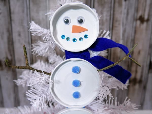 Christmas Snowman Craft for Preschoolers