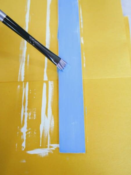 Paint stick blue