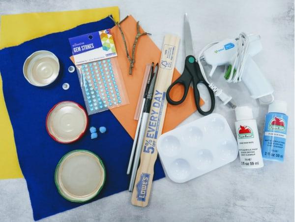 Supplies for Snowman Crafts
