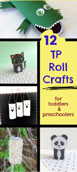 Toilet Paper roll crafts for preschoolers