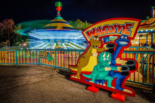Triceratop Spin ride at Disney World