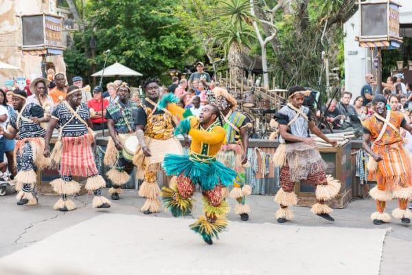 African dancers at Disneys Animal Kingdom